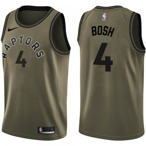 Youth Chris Bosh Toronto Raptors Nike Swingman Green Salute to Service Jersey